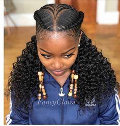 47 Trendy Braids For Kids Black Twists Natural Hairstyles Braided Ponytail Hairstyles, African Braids Hairstyles, My Hairstyle, Girl Hairstyles, Weave Hairstyles, 2 Cornrow Braids, Spanish Hairstyles, Twist Cornrows, Teenage Hairstyles