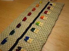 Crayon roll - beautiful colors available @ Circle of Hands ~ a Waldorf Collective