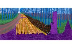 David Hockney winter timber