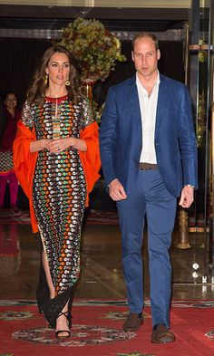 Kate dons colourful Tory Burch dress for dinner with King of Bhutan