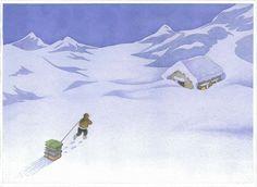 Abasteciéndose de libros para el invierno (ilustración de Angelo Ruta)