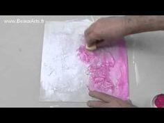 Conseils et astuces peinture : Comment faire un fond texturé avec du papier de soie froissé ? - YouTube