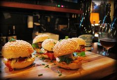 Sliders at Tippler's Tap, Brisbane.  These are great sliders - come in two varieties - pork belly & cheese burger - best sliders in town.
