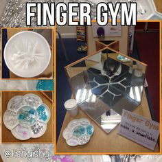 Finger Gym - make a snowflake with loose parts.