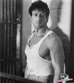"Sylvester Stallone in ""Lock Up"" 1989 Silvestre Stallone, Stallone Rocky, Jackie Stallone, Rocky Series, Bullet To The Head, Celebrity Workout, Celebrity Fitness, Rocky Balboa, The Expendables"