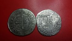 "Fake: 1622 8 Reales. Mexico. Sold as ""Atocha"" cobs by Brian Eisenberg in Englewood, Florida.  Die struck. 1622, oMD."