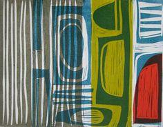 Overlapping 1 ~ Linocut ~ Liz Clark