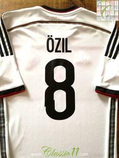 52e46ee66191 2014 15 Germany Home Football Shirt Ozil  8 (M)