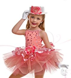 Curtain Call Costumes® - Peach Pizzazz Kids or baby ballet or tap dance costume