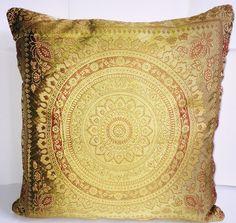Indian Patchwork Mandala Sari Ethnic Vintage Banarasi Cushion Cover 16x16 40x40 | eBay