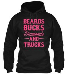 BEARDS BUCKS DIAMONDS AND TRUCKS hoodie: -Not charged until campaign reaches goal -Will print when campaign ends -Will ship 10-14 days after campaign ends - International shipping available