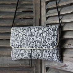 "Sac ""geisha"" motif vague - collection mō - tissu japonais"