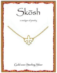 Gold Fleur De Lis Necklace By Skosh