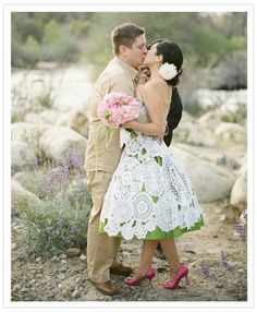 can you say doily wedding dress??!