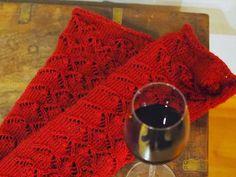 VIININPUNAISET PITKÄT PITSISUKAT · Kristallikimara Red Wine, Alcoholic Drinks, Knitting, Glass, Socks, Liquor Drinks, Hosiery, Alcoholic Beverages, Tricot
