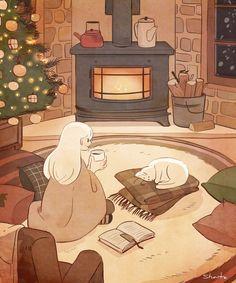 Art And Illustration, Pretty Art, Cute Art, Aesthetic Art, Aesthetic Anime, Personajes Studio Ghibli, Arte Do Kawaii, Posca Art, Relaxing Art