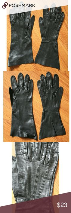 Vintage Black leather gloves Glovers Guild size 7 In excellent vintage condition No holes or tears or stains Glovers Guild  Accessories Gloves & Mittens