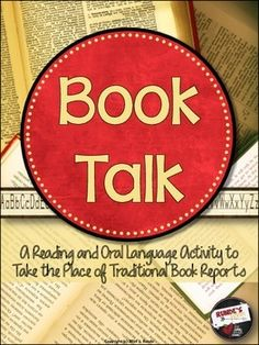 Book Talk - An Oral Language Activity - practice oral language skills and reading comprehension in one fun activity. $