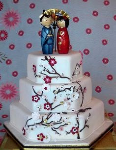 Pretty cake, although I wouldn't use this silly topper