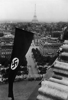 Nazi flag over Paris, 1940. Unknown photographer.