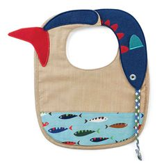 Gear up Dad's little fishing buddy with an adorable fish print bib for meal time.