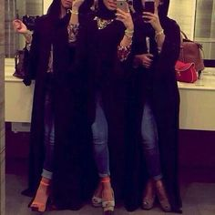 Find images and videos about abaya on We Heart It - the app to get lost in what you love. Beautiful Muslim Women, Beautiful Hijab, Arab Girls, Muslim Girls, Hijabi Girl, Girl Hijab, Stylish Girls Photos, Stylish Girl Pic, Stylish Hijab