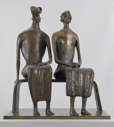 Henry Moore OM, CH 'King and Queen', 1952–3, cast 1957 © The Henry Moore Foundation. All Rights Reserved