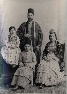 Family from Baghdad, Iraq. Early 20th century