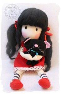 Muñeca inspiración Gorjuss, paso a paso. Inspiration Gorjuss doll, step by step Best Baby Doll, Baby Dolls, Diy Doll Pattern, Kawaii Doll, Holly Hobbie, Kids Corner, Felt Toys, Cute Dolls, Amigurumi Doll