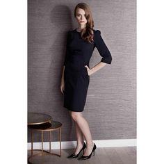 Linda_Navy_Work dress modelled