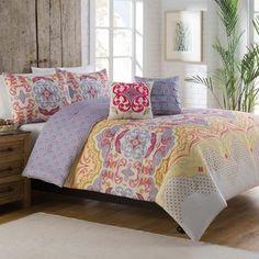 Vue Milo Reversible Comforter Set, Purple