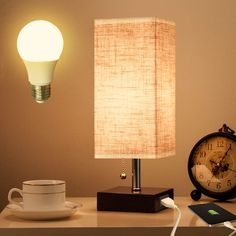 Lifeholder Table Lamp, Nightstand Lamp with USB Charging Port and Warm White Led for sale online Floor Lamp Bedroom, Table Lamp Lighting, Table Lamp, Wooden Table Lamps, Wooden Lamp, Table Lamp Shades, Artisan Lamps, Nightstand Lamp, Bottle Table Lamps