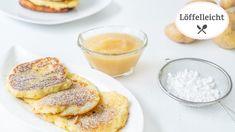 Quarkkeulchen - Rezept von Löffelleicht Puffer, Camembert Cheese, French Toast, Breakfast, Youtube, Food, Backen, Recipes For Children, Food Portions