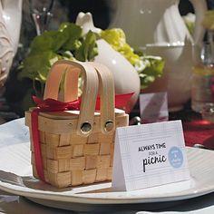 Mini Woven Picnic Baskets by Beau-coup