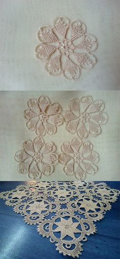 This Pin was discovered by Olc Filet Crochet, Irish Crochet, Crochet Lace, Crochet Stitches, Needle Lace, Bobbin Lace, Crochet Unique, Romanian Lace, Crochet Blocks