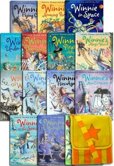 Winnie the Witch Collection 14 Books Set in Bag by Valerie Thomas and Korky Paul  #WinnieTheWitch #Winnie #ChildrensBook #Classic   http://www.snazal.com/winnie-the-witch-collection-14-books-set-in-bag--valerie-tho--DEALMAN-U5-WinnieWitch-14bks.html