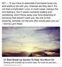 Breaking Up and Moving On Quotes : Breaking Up and Moving On Quotes : Dealing with a break-up is never easy. Weve a