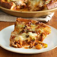 Meat Lovers Deep Dish Pizza - I would add bacon too!