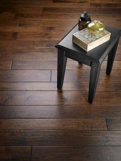 Handscraped Hickory wood floor
