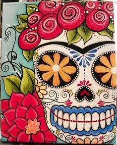 sugar skull paintings - Google Search