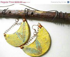 CIJ SALE Ethnic Earrings  Statement Earrings  OOAK by PaperMemoirs, $15.20