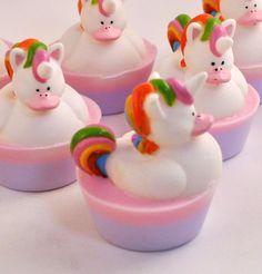 Children's Soap  Unicorn Rubber Duck Soap by PinkParchmentSoaps, $6.00