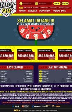 #wattpad #acak Situs EnjoyQQ.net ini adalah Situs Domino99 yang paling populer dan paling diminati di Indonesia. Berdasarkan dari statistik dan testimoni yang diberikan oleh para member disana, situs ini terbukti 100% Fair Play, murni member vs member dan No Bot.