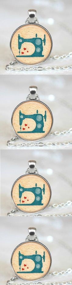 Vintage Sewing Machine Necklace,! Click The Image To Buy It Now or Tag Someone You Want To Buy This For. #Sewing