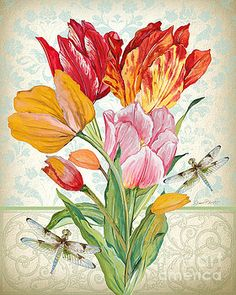 Tulip Botanicals-JP3805 by Jean Plout