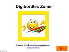 Digibordles visuele discriminatie / categoriseren gr 2