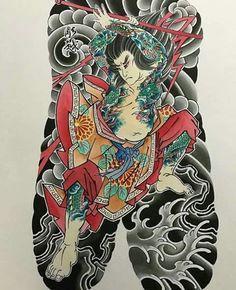 Flash of irezumi. Japanese Back Tattoo, Japanese Tattoo Symbols, Japanese Art, Asian Tattoos, Weird Tattoos, Body Art Tattoos, Chest And Back Tattoo, Back Piece Tattoo, Buddha Tattoo Design