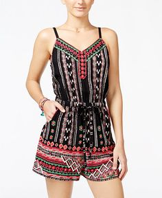 American Rag Juniors' Embroidered Romper, Only at Macy's - Juniors Shorts - Macy's