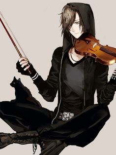 Violinist anime boy-omg i think ive seen him before. Is this a fanart of Ikuto?!