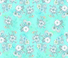 Flowers fabric by sandeehjorth on Spoonflower - custom fabric
